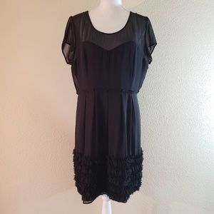 NWT Lauren Conrad Black Ruffle Cocktail Dress